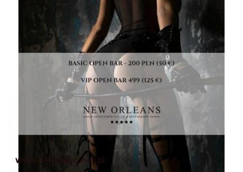Oferta Open Bar w klubie nocnym New Orleans w Warszawie