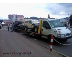 Transport na lawecie samochodów i towarów