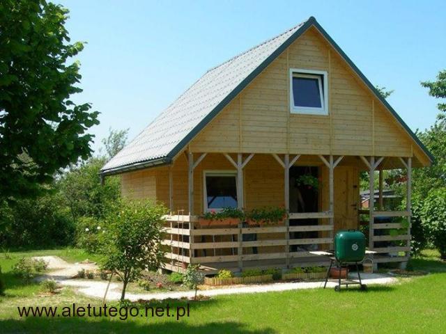 Drewniany piętrowy domek ogrodowy, letniskowy, altana. - 1/1