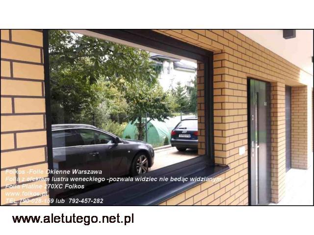 Co na okna na parterze ? Folia z efektem lustra weneckiego Warszawa - 1/2