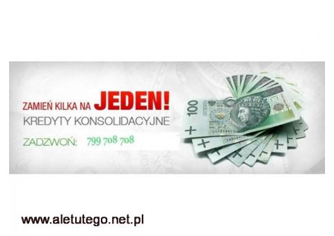 Konsolidacja kredytów - SPŁATA chwilówek