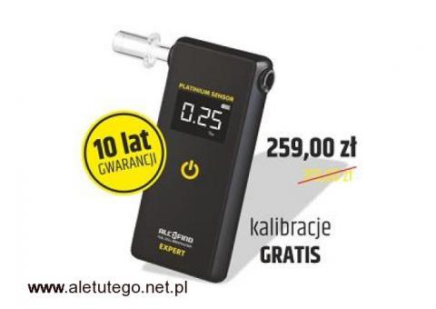Alkomat EXPERT marki AlcoFind SKALIBROWANY OD PROMIL-LAB