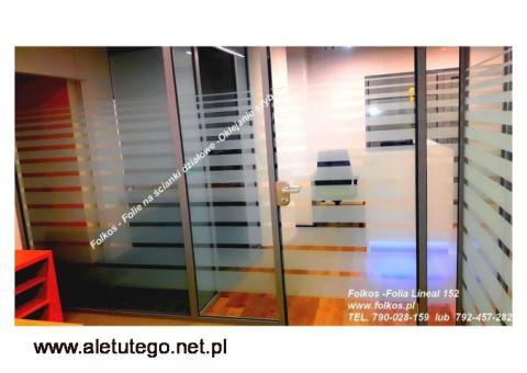 Folia Lineal 152, folia wzór 560, wzór Mgła -Folie matowe Mrożone ,Mleczne Wawa