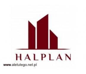 Hale magazynowe, namiotowe, przemysłowe, warsztatowe Halplan.pl
