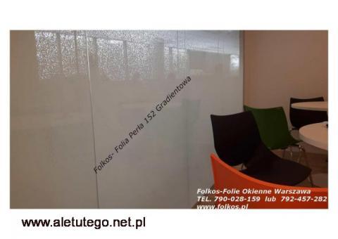 Folie okienne Warszawa Bielany - Oklejanie szyb Folie okienne Folkos