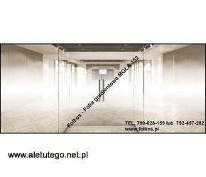 Oklejanie szyb -Warszawa -Folie gradientowe ;Mgła, Perła wzór 250, 234, 560, 880 Folkos Warszawa