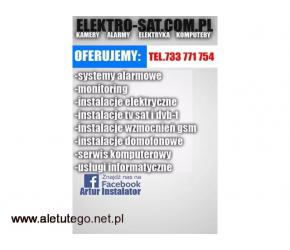 Instalacje elektryczne, alarmowe, TV sat, monitoring Wolin