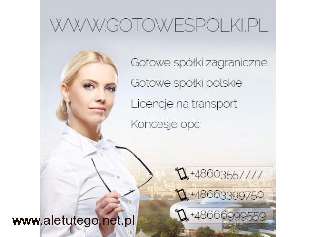 Gotowa Spółka na Łotwie w Bułgarii Danii Holandii Wielkiej Brytanii, Węgry KONCESJA OPC - 1/1