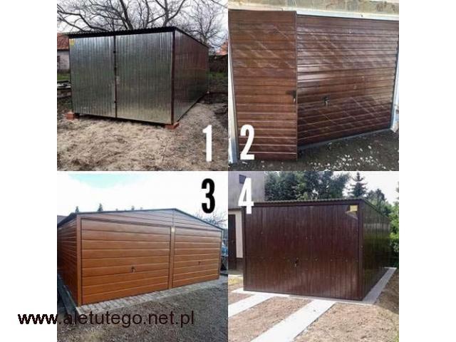 Garaże blaszane 3x5 ocynk , Garaże drewnopodobne z profila - 1/1