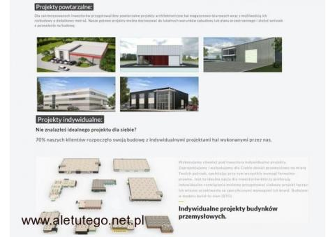 Projekt i budowa hal magazynowych - produkcyjnych
