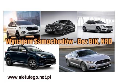 Wynajem Samochodów - Bez BIK, KRD